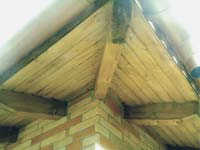 Renovated roof rafter at the roof