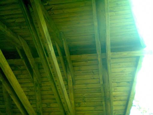 Interior part of canopy's structure