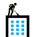Flat roof repair icon