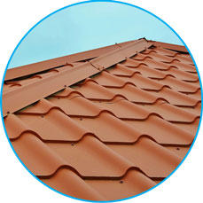 Roof tile affect roof sheet